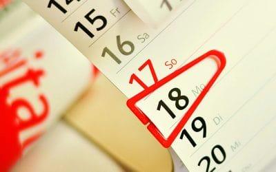 A naptár a legegyszerűbb módja a határidők fejben tartásának