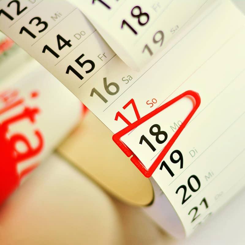 papír naptár